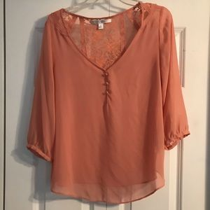 Peach Lauren Conrad blouse